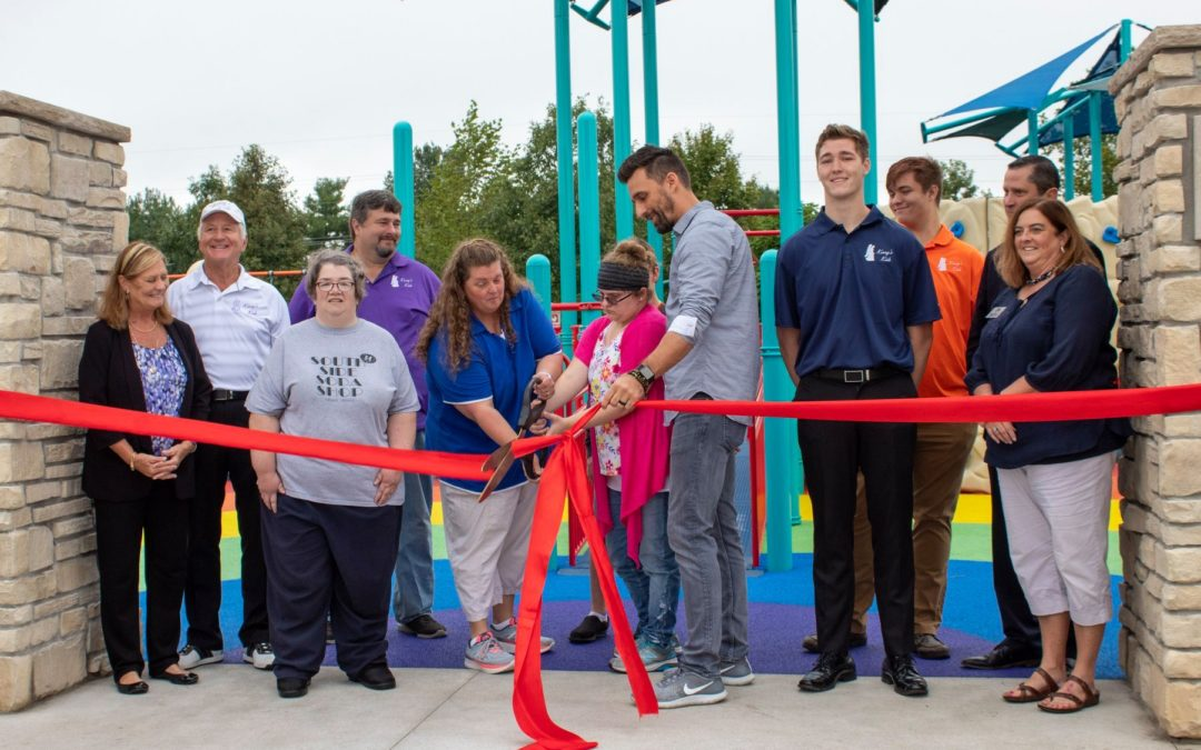 Ribbon Cutting at the New Playground at Hay Park